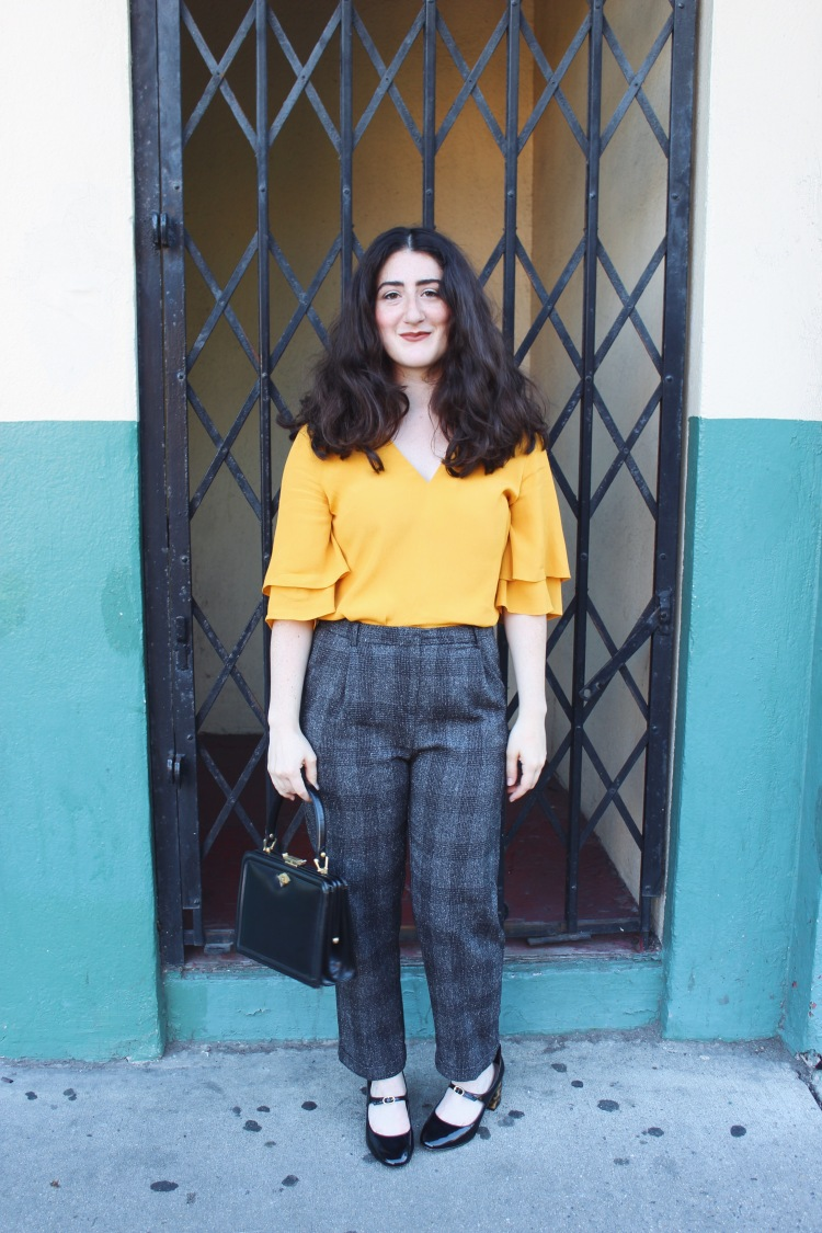Aline Chaprazian wearing GenZ Yellow featured on her blog Aline Aesthetic